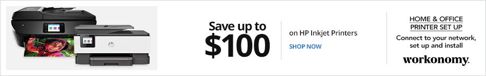 Save up to $100 on HP Inkjet Printers