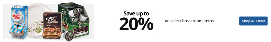 Save up to 20% on select Breakroom Items