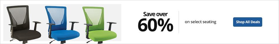 Save Over 60% on select Seating