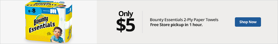 Bounty essentials 2-ply paper towels only $5