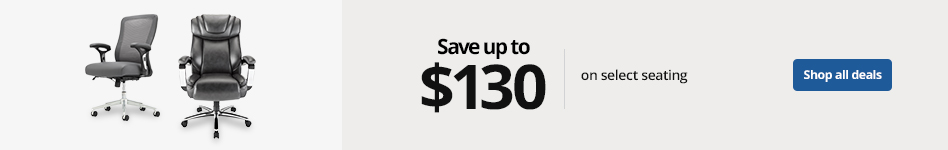 Save up to $130 on select seating