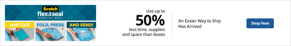 Use up to 50% less time, supplies and space than boxes