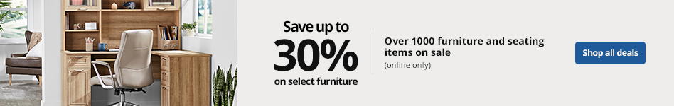 Save up to 30% select furniture