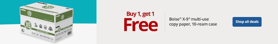 Boise X9 buy 1 get 1 free