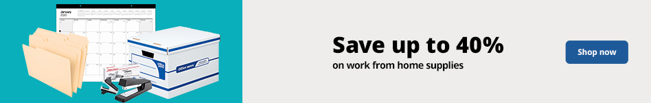 Save up to 40% on work from home supplies