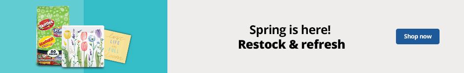 Spring is here!  Restock & refresh