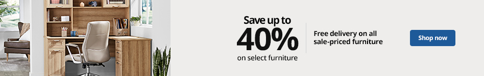 Save up to 40% on select furniture   Free delivery on all sale-priced furniture