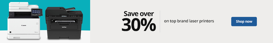 Save over  30% on Top Brand Laser Printers