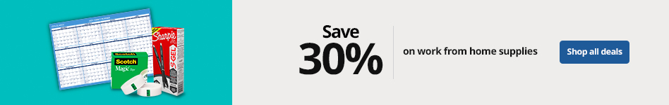 Save up to 30% on work from home supplies