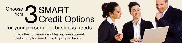 SMART Credit Account Options: Personal & Business Credit Cards at Office Depot