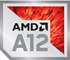 AMD A12 Processor Badge