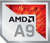 AMD A9 Processor Badge