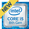 Intel Core i5 8th Gen Processor Badge