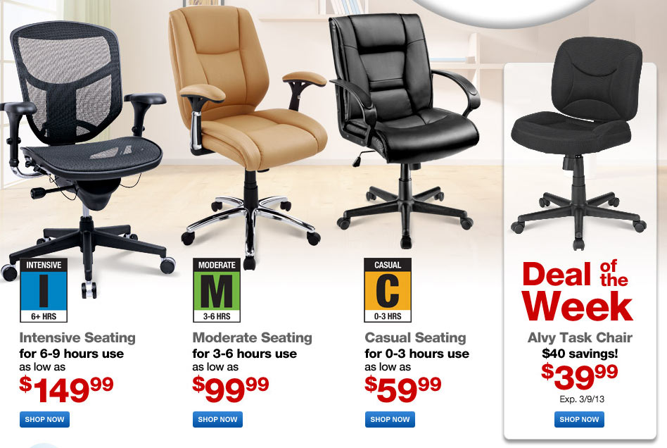 Huge Furniture Sale on Chairs, Desks and more at Office Depot