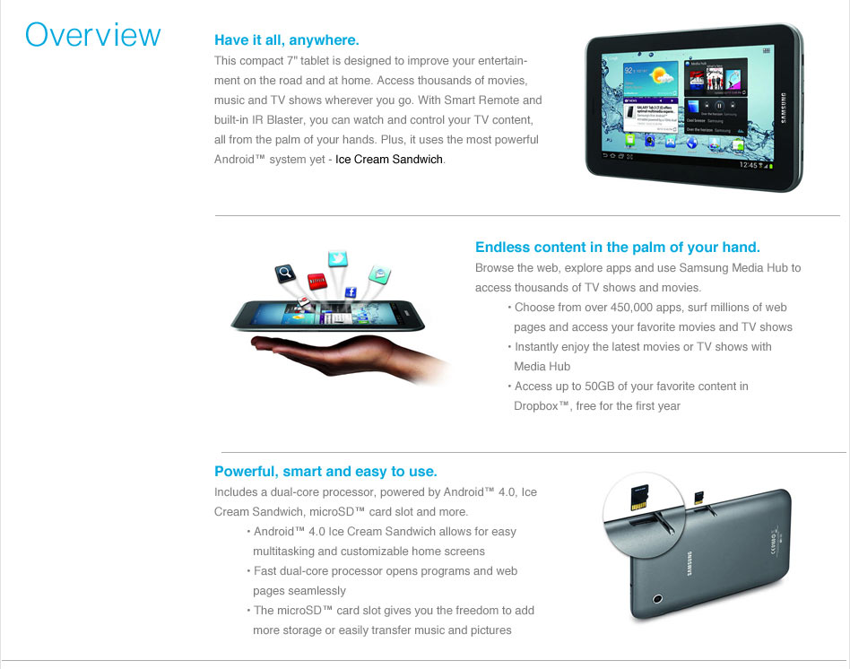 Samsung GALAXY tab2 pre-order your 8GB overview