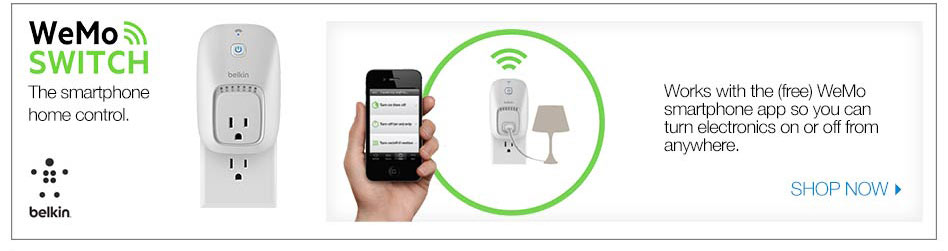 WeMo switch the smartphone home control