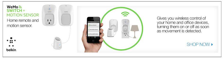 WeMo switch monitor sensor home remote and motion senseor