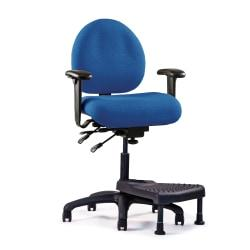 Image of Neutral Posture(R) E-Series(TM) Mid-Back Stool With Nextep(R) Footrest, 40in.H x 26in.W x 26in.D, Navy