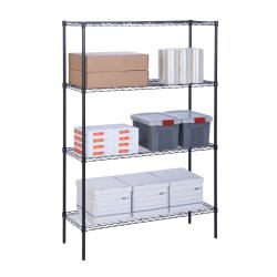 Honey-Can-Do Urban Steel Adjustable Storage Shelving Unit, 4-Tiers, 72in.H x 18in.W x 48in.D, Black