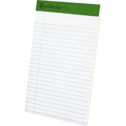 TOPS Recycled Perforated Jr. Legal Rule Pads - 50 Sheets - 0.28in. Ruled - 15 lb Basis Weight - 5in. x 8in. - Environmentally Friendly, Perforated - Recycled