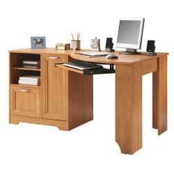 Realspace (R) Magellan Collection Corner Desk, 30in.H x 59 1/2in.W x 39in.D, Honey Maple