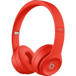 Beats by Dr. Dre Solo3 Headset - Stereo - Mini-phone - Wired/Wireless - Bluetooth - Over-the-head - Binaural - Circumaural - Red