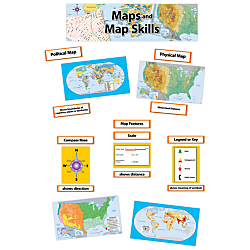 Creative Teaching Press(R) Mini Bulletin Board Set, Maps And Map Skills, Grades 3-5