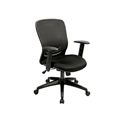 Eurotech Tetra Fabric And Mesh Task Chair, Black