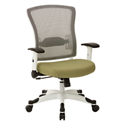 Office Star(TM) Space Seating Mesh Mid-Back Chair, Lily Pad/White