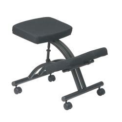 Office Star(R) Work Smart Ergonomic Knee Chair, Black