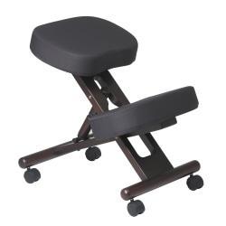 Office Star(R) Work Smart Ergonomic Knee Chair, Black/Espresso