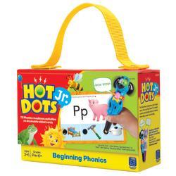 Educational Insights(R) Hot Dots(R) Jr. Beginning Phonics Card Set, 6 1/2in. x 4 1/2in., Pre- K - Grade 2