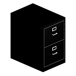 HON(R) H320 Series 26 1/2in.D Vertical 2-Drawer Legal File Cabinet, Black