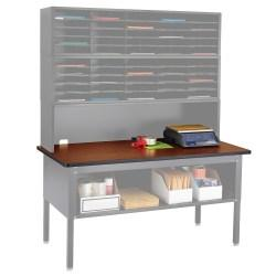 Safco(R) E-Z Sort(R) Mailroom Furniture, Table Top, 1in.H x 60in.W x 30in.D, Cherry