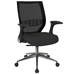 Office Star(TM) Pro-Line II ProGrid Fabric High-Back Chair, Shale/Black/Silver