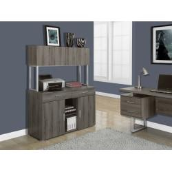Monarch Specialties Office Cabinet Credenza, Dark Taupe