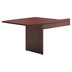basyx by HON(R) BL Series Boat-Shaped Table End For Conference Table, Mahogany