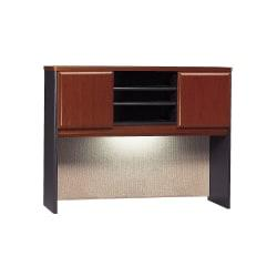 Bush Business Furniture Office Advantage Hutch 48in.W, Hansen Cherry/Galaxy, Premium Installation