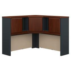 Bush Business Furniture Office Advantage Corner Hutch 48in.W, Hansen Cherry/Galaxy, Premium Installation