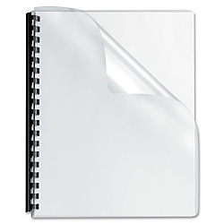 Fellowes(R) Clear Presentation Binding Covers, 8 3/4in. x 11 1/4in., Clear, Pack Of 100