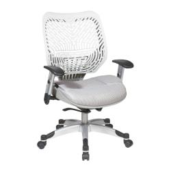 Office Star(TM) Space(R) Revv Mesh Mid-Back Chair, Ice White/Shadow