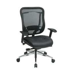 Office Star(R) SPACE(TM) Big Tall High-Back Mesh Chair, Black/Silver