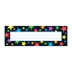 TREND Desk Toppers(R) Name Plates, Gel Stars, 2 7/8in. x 9 1/2in., Multicolor, Grades Pre-K - 5, 36 Plates Per Pack, Set Of 6 Packs