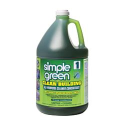 Simple Green Clean Building All-Purpose Cleaner Concentrate, Unscented, 1 Gallon, Case Of 2