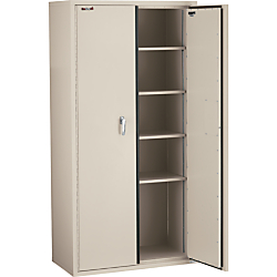 FireKing(R) Fire-Resistant Storage Cabinets, 4 Adjustable Shelves, 72in.H x 36in.W, Parchment, White Glove Delivery