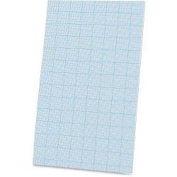 Ampad Cross - section Quadrille Pads - Legal - 40 Sheets - Glue - 20 lb Basis Weight - 8 1/2in. x 14in. - White Paper - Chipboard Backing - 40 / Pad