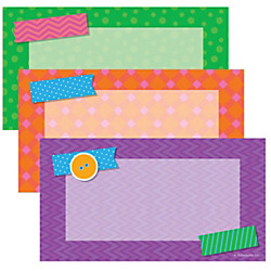 Scholastic Teacher's Friend Tape It Up! Accents, Assorted Colors, Pre-K - Grade 6, Pack Of 72