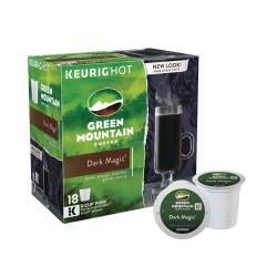 Green Mountain Coffee(R) Dark Magic(R) Extra Bold Coffee K-Cups(R), Box Of 18