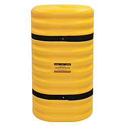 Eagle Protective Column, 10in. Thickness, 42in.H x 24in.W x 24in.D, Yellow/Black