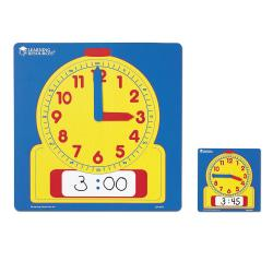 Learning Resources(R) Write And Wipe Demonstration Clock, Ages 6-12, Set Of 10